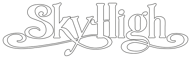 SkyHigh logotyp vit